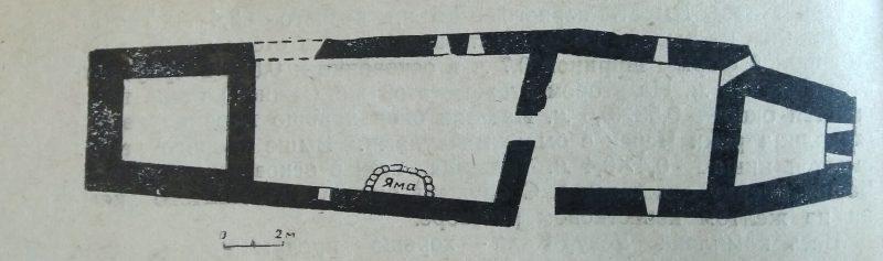 Безенги. Замок Жабоевых. План из книги Мизиева