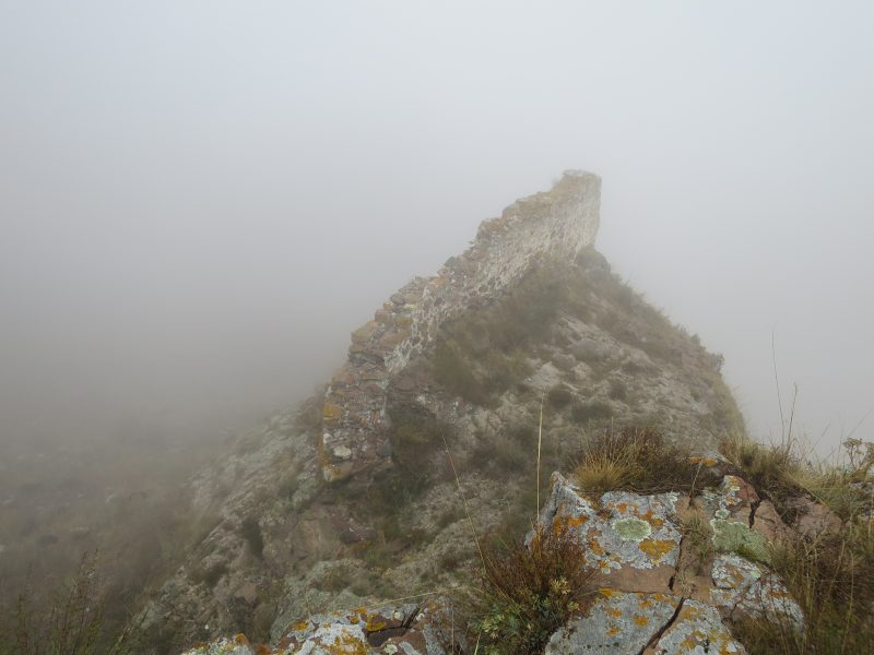 Безенги. Замок Жабоевых. Внешняя оборонительная стена