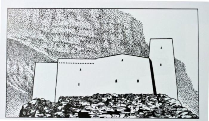 Безенги. Замок Жабоевых. Реконструкция по снимку 1959 г.