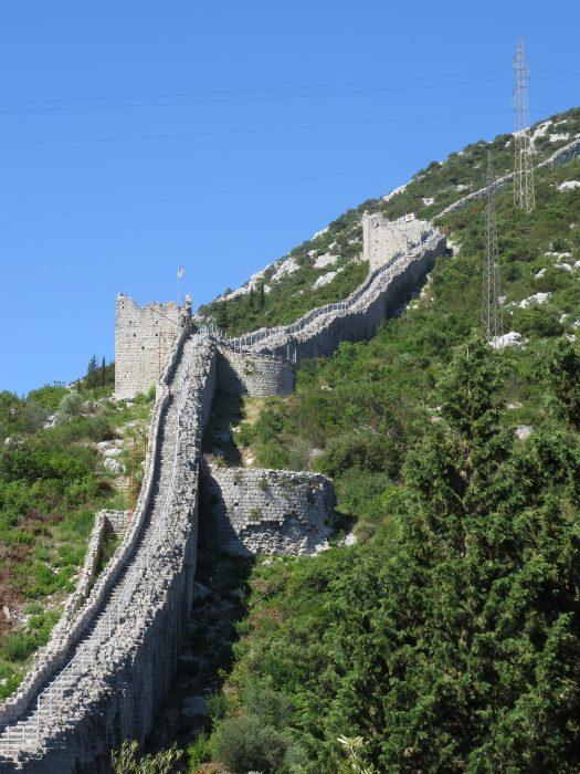 Северный участок большой стены. Круглые башни.