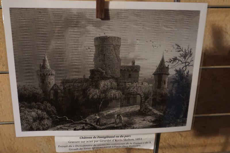 Замок Дофин. Гравюра с изображением замка 1851 года
