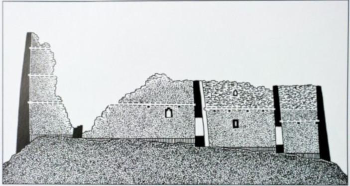 Безенги. Замок Жабоевых. Разрез замка с сайта assia.info