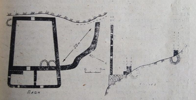Черекское ущелье. Болат-кала. План крепости