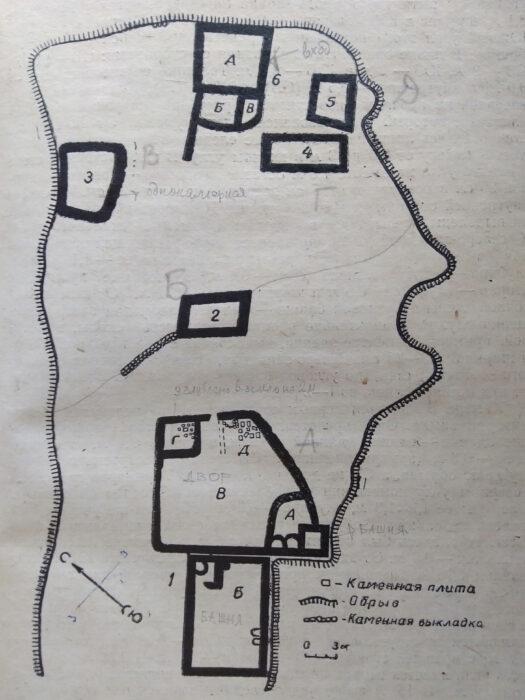 Черекское ущелье. План замка Курнаят