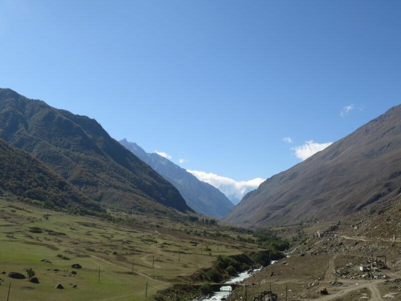 Река Черек Хуламский от селения Безенги