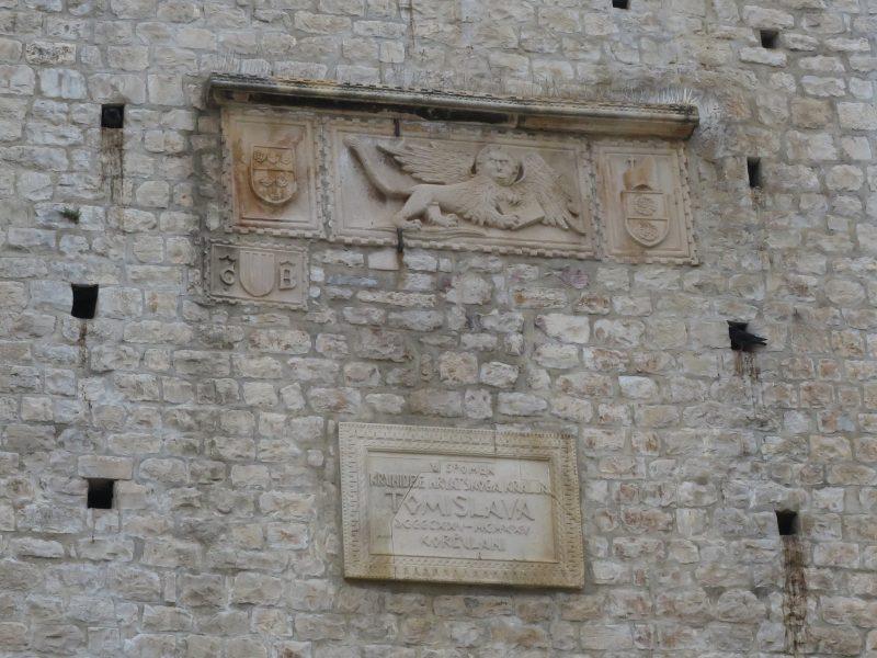 Корчула. Барельеф на башне Ревелин