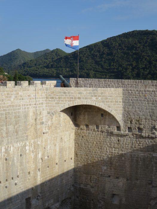 Навесная артиллерийская площадка юго-западного угла крепости.
