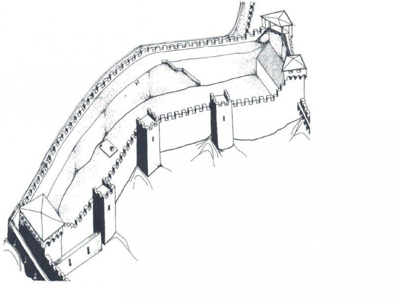 Изображение крепости Коруна на 1491 год
