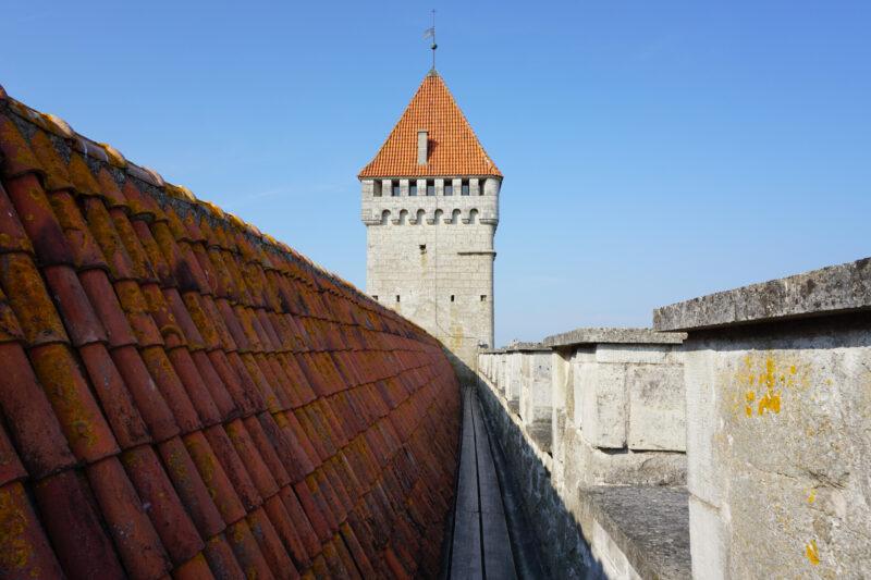 Куресарее. Боевая галерея конвента в сторону башни Длинный Герман