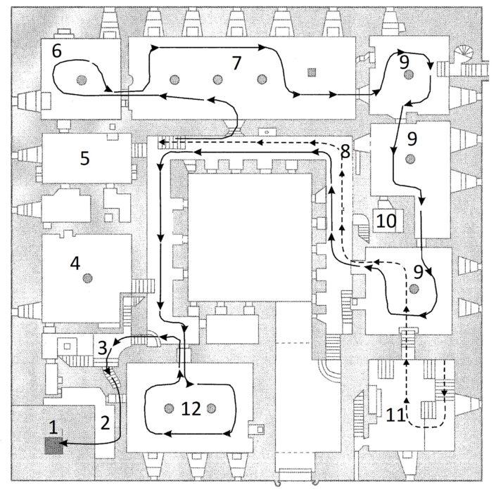 Куресааре. Конвент, план 2 этажа