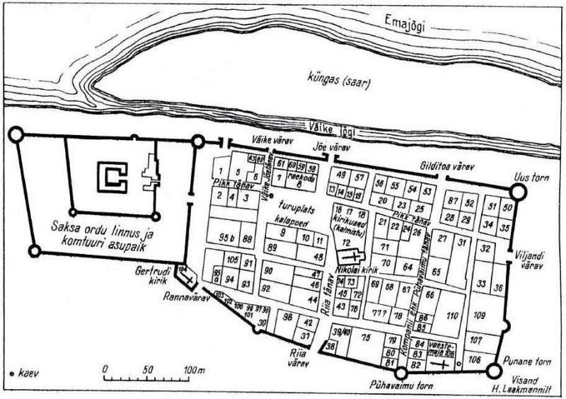 Пярну. Укрепления города в XVI веке