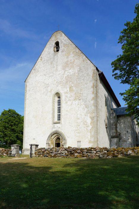 Церковь Карья с западной стороны