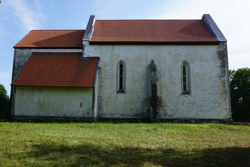 Церковь Карья с северной стороны