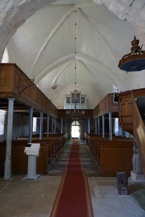 Церкви Сааремаа. Пюха, вид на деревянную галерею