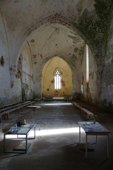 Церкви Сааремаа. Внутреннее убранство церкви Пёйде