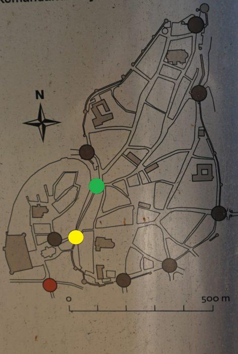 Таллин. Расположение ворот Нижнего города