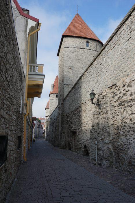 Таллин. Фрагмент стены вдоль улицы Лабораториуми
