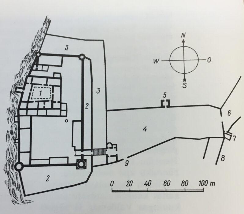 Таллин. Тоомпеа. План замка второй половины XIV века