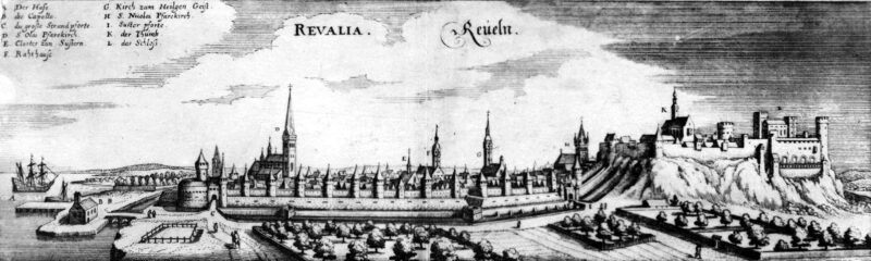Таллин на гравюре А. Олеария (XVII век)