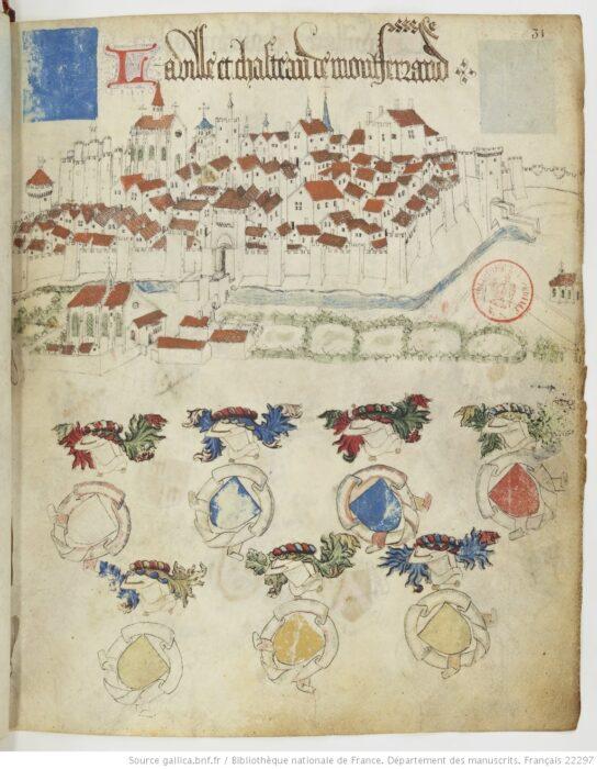 Монферран. Изображение города (XV век)