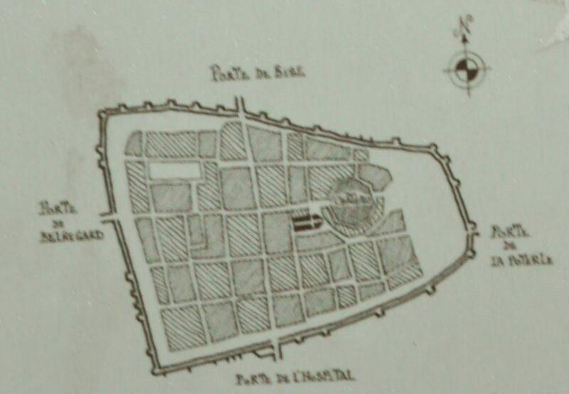 Монферран. План средневекового города