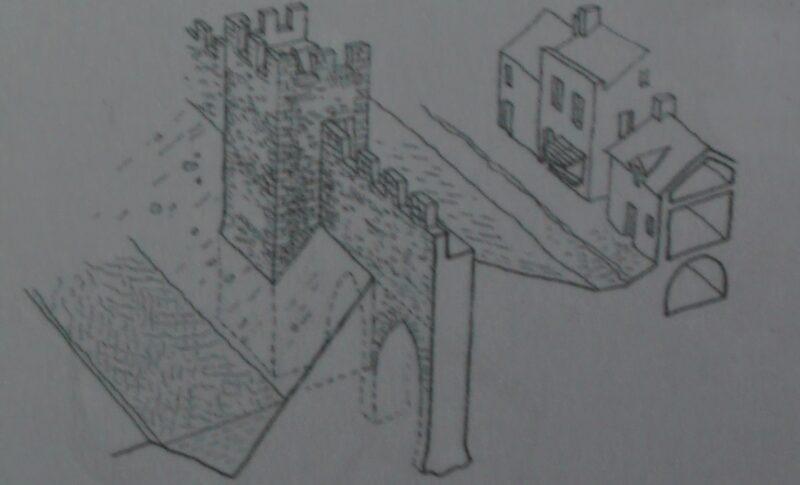 Монферран. Изображения конструкции стен и башен