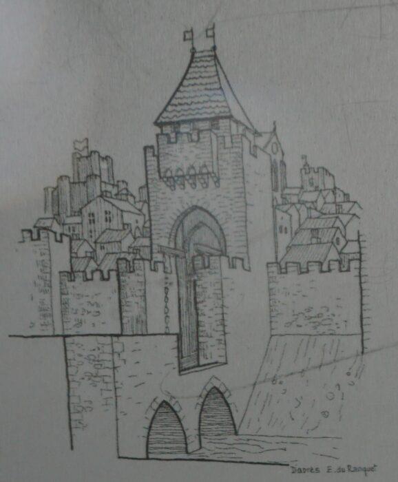 Монферран. Рисунок-реконструкция ворот Биз