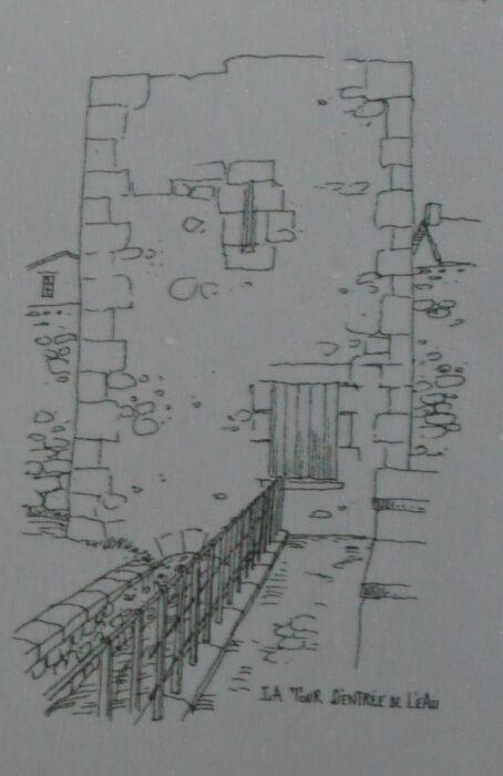 """Монферран. Рисунок-реконструкция """"Башни входа воды"""""""