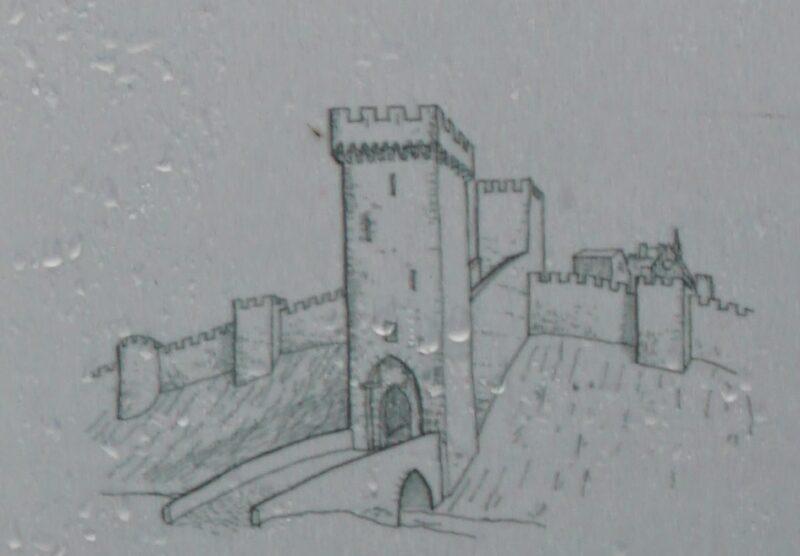 Монферран. Рисунок-реконструкция ворот Белрегард