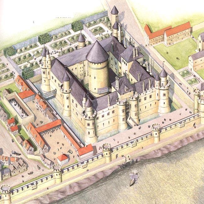 Сен-Флоре. Лувр при Филиппе Августе