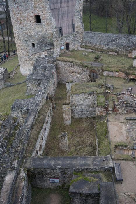 Цесис. Руины западного крыла
