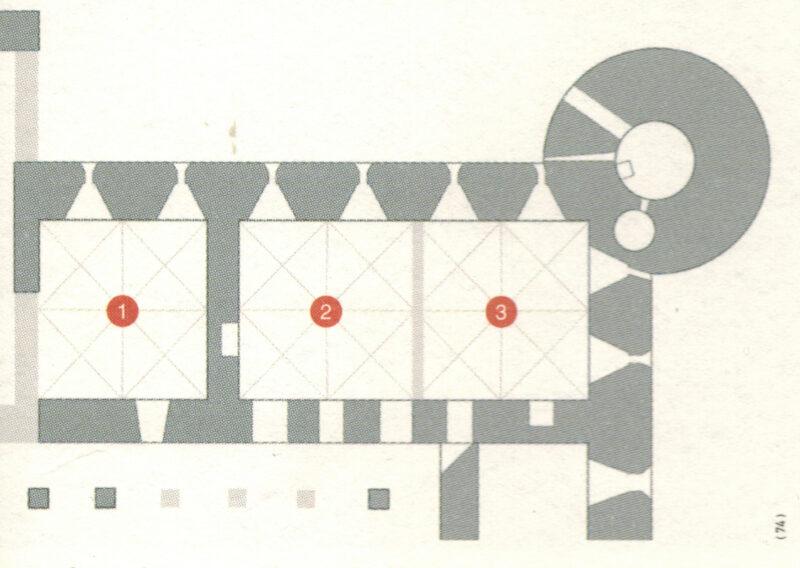 Цесис. План нижнего этажа восточного крыла