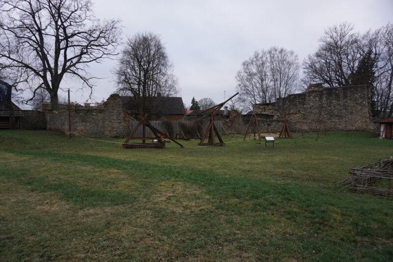Цесис. Руины построек западной части первого внешнего двора