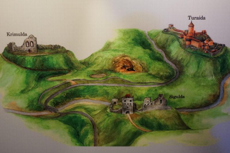 Кримулда. Схематический план расположения замков