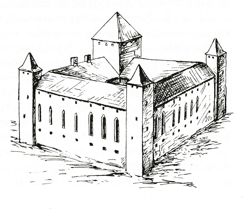 Рижский замок. Реконструкция второго орденского замка на XIV век