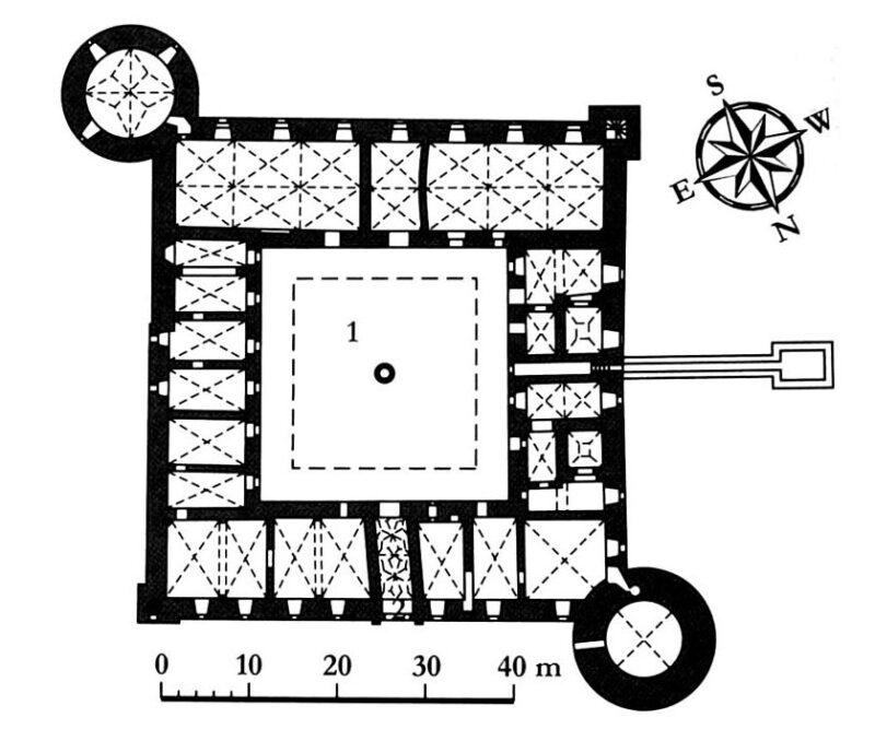 Рижский замок. План нижнего этажа
