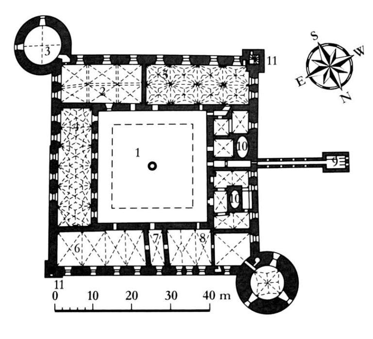 Рижский замок. План первого этажа