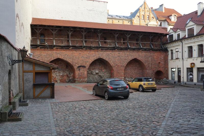 Рига. Фрагмента стены во дворе Яня сета
