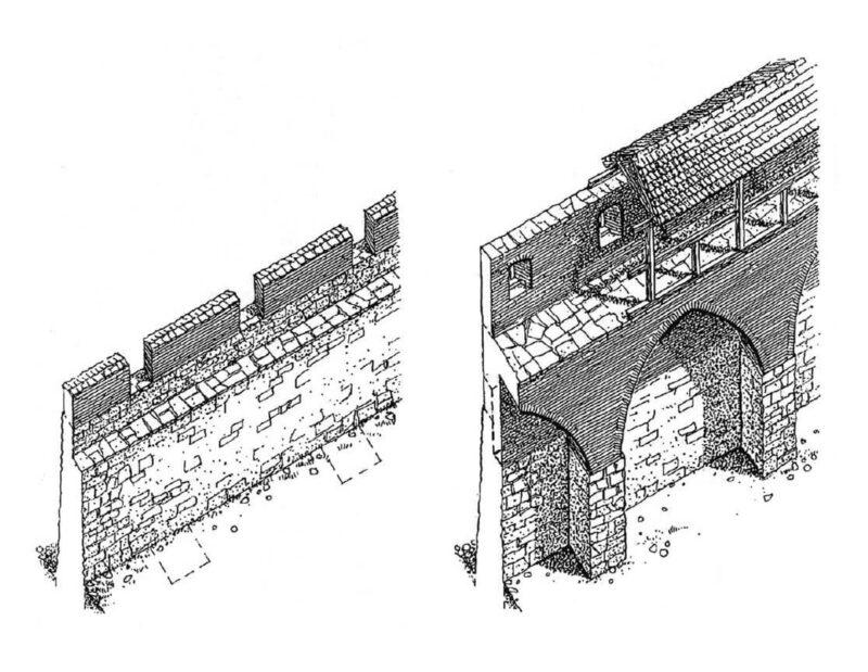 Рига. Реконструкция городских стен в XIII и в XIV веках