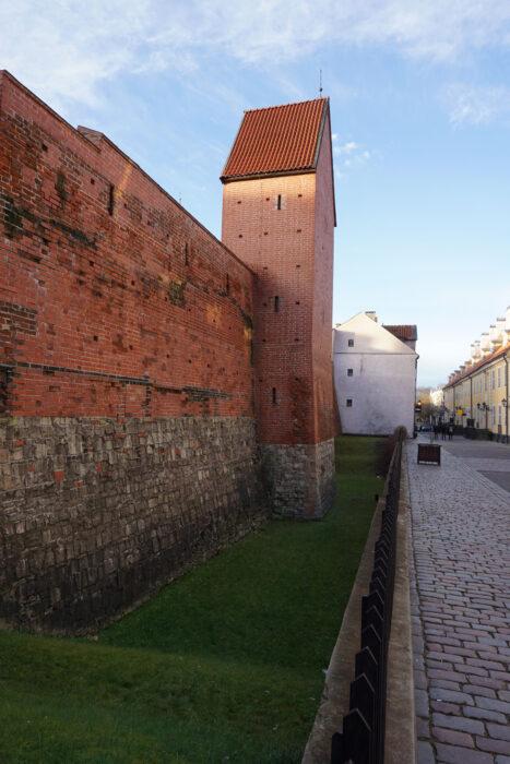 Рига. Структура стены башни Рамера
