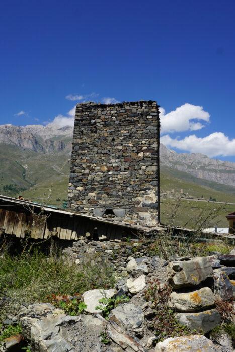 Северная Осетия. Лац. Башня Дулаевых